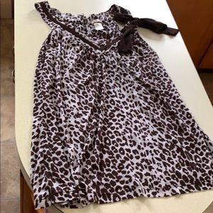 Cheetah Print Flowy Tank Top with Bow